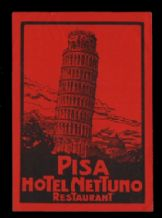 incredible Hotel label luggage labels baggage pretty Pisa  #093